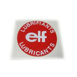"Autocollant  ""ELF"" bouchon huile"